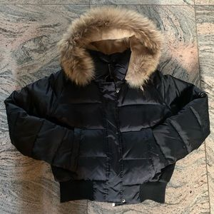 LAUNDRY ⭐️ Black Jacket with Genuine Fur Trim